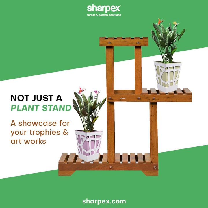 The sturdy and yet portable plant stand from Sharpex Gardening And Community can be used for not only placing the plants but also for showcasing the trophies, art-works and a lot more.   Bring home the beautiful, elegant and useful plant stands today!  #PlantStand #GardeningAccessories #GardeningTools #ModernGardeningTools #GardeningProducts #GardenProducts #Sharpex #SharpexIndia