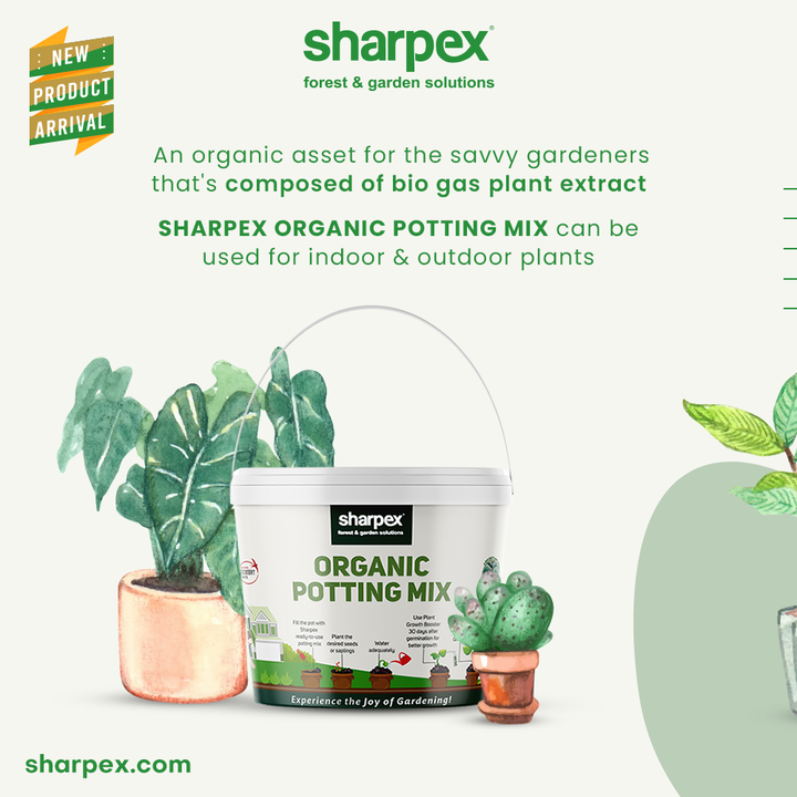 Bring home this organic asset from Sharpex Gardening Community if you are a savvy gardener.  This organic potting mix is composed of 100% bio gas plants extract and hence it is  absolutely beneficial for the plants.  Give your green friends the nutrition they deserve by be-friending this product.  #GardeningAccessories #GardeningTools #ModernGardeningTools #GardeningProducts #GardenProducts #Sharpex #SharpexIndia