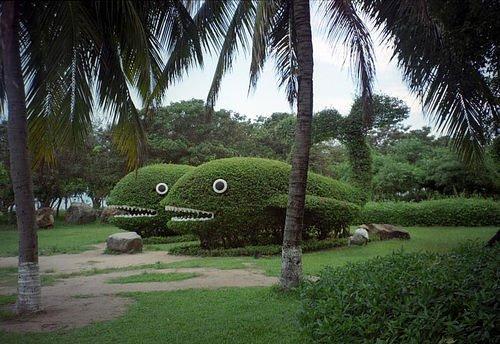 fish sculpture garden