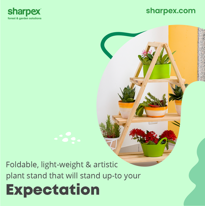 Here's a glimpse of the #PlantStand from Sharpex Gardening And Community that will stand upto the expectation of every plant lover and gardener who is fond of the modern gardening accessories!  The unique selling points of the plant stands are that: It is foldable, light-weight and artistically appealing.  #GardeningAccessories #GardeningTools #ModernGardeningTools #GardeningProducts #GardenProducts #Sharpex #SharpexIndia