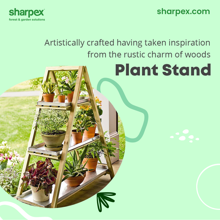 Plants are the evergreen mood-booster of the times!  Having taken inspiration from the rustic charms of woods, this plant stand will conveniently accommodate the plants and help to set the right mood.  Place your order without delaying anymore today!  #GardeningAccessories #GardeningTools #ModernGardeningTools #GardeningProducts #GardenProducts #Sharpex #SharpexIndia
