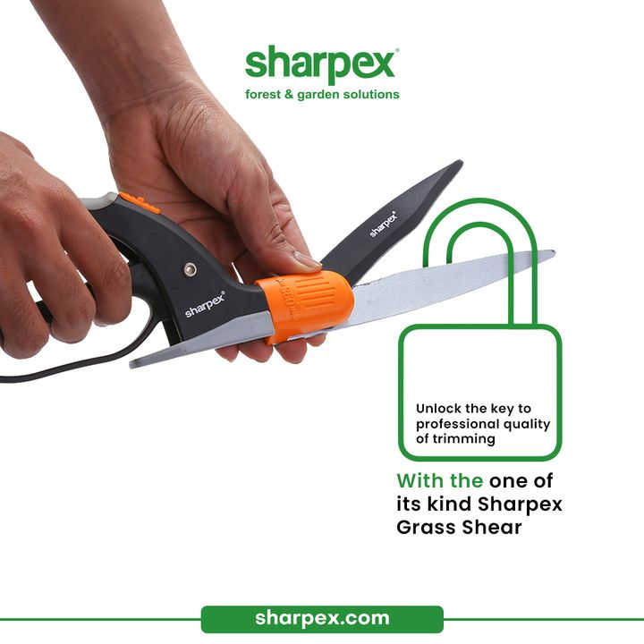 The ultimate dream of a gardener is having a neat and tidy lawn.  Unlock the key to professional quality of the trimming with the one of its kind #SharpexGrassShear.  #GardeningAccessories #GardeningTools #ModernGardeningTools #GardeningProducts #GardenProducts #Sharpex #SharpexIndia