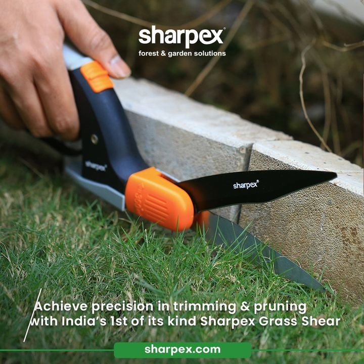 Precision is important; whether it is life or gardening.  Achieve precision in trimming & pruning with India's 1st of its kind Sharpex Grass Shear.  #GardeningAccessories #GardeningTools #ModernGardeningTools #GardeningProducts #GardenProducts #Sharpex #SharpexIndia