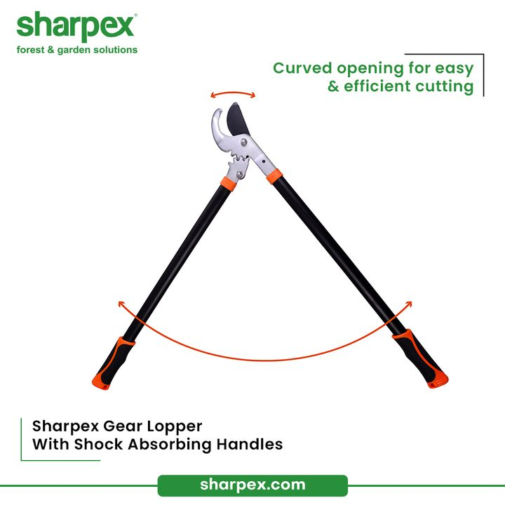 Here's the all-rounder Sharpex Gear Looper with shock absorbing handles that has curved  opening for easy & efficient cutting.  Let your gardening tool kit stay up to date with Sharpex Gardening And Community.  #GardeningAccessories #GardeningTools #ModernGardeningTools #GardeningProducts #GardenProducts #Sharpex #SharpexIndia