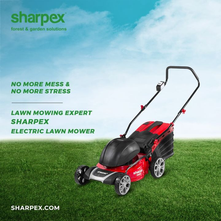No more mess will help you to have no more stress.  Let your lawn mowing necessities be taken care of with the lawn mowing expert; Electric Lawn Mower from the house of Sharpex Gardening And Community.  #ElectricLawnMower #JoyOfGardening #GardeningAccessories #GardeningTools #ModernGardeningTools #GardeningProducts #GardenProducts #Sharpex #SharpexIndia