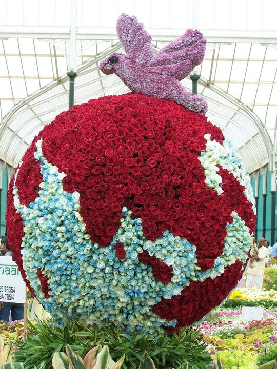 colorful flowers Globe..