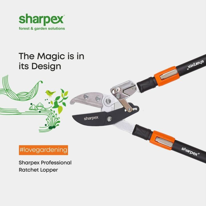 How do you know your product has a certain quality? Well, look into its design & the purpose it serves. The thoughtful design makes all the difference. Ergonomic design giving a firm & comfortable grip, Non-sticky, carbon steel blades gliding smoothly through wood without getting messy & the trust of Sharpex. This is why our Ratchet Lopper lasts for years & you never have to worry about its quality. With us,   www.sharpex.com  #Gardeningisfun  #lovegardening  #Sharpex #ProfessionalRatchetLopper #IndianGardeningTools #gardeninginstyle #sharpexindia #explore #gareden #GardeningAccessories  #GardeningTools #ModernGardeningTools #GardeningProducts  #SharpexIndia #joyofgardening