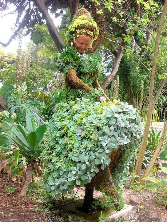 Dancing Lady Garden design at the San Diego Botanical Gardens