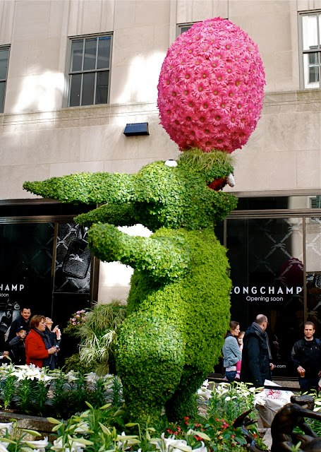 Easter Bunny at Rockefeller Center's Channel Gardens