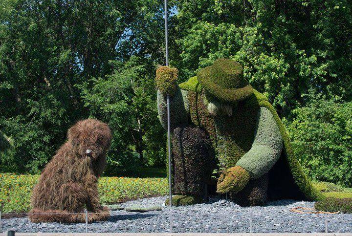 garden sculpture at Montréal Garden show!!