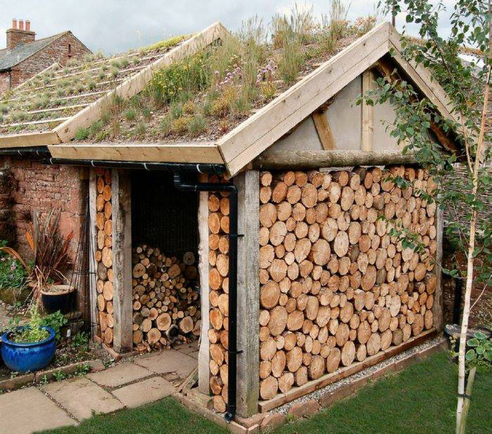 Nice House made from wooden log!