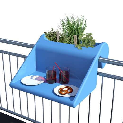 Table & planter – Smart idea for small balcony and apartment!
