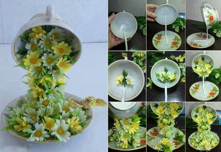 Gorgeous floral embellishment (artificial), you will need a metal rod and hot glue to attach the flowers.