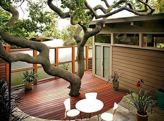 Rooftop deck with balcony #gardendecor..!!!