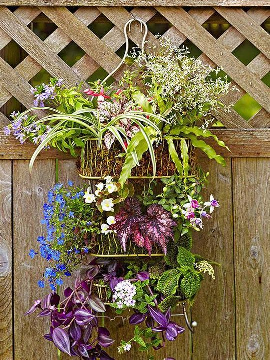 outdoor basket decoration!