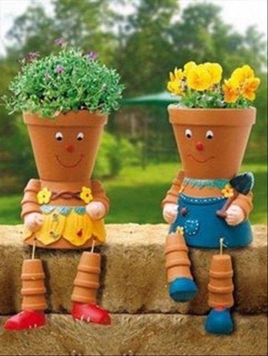 Cute couple..!!  #flowerpot #innovative #gardening..!!!