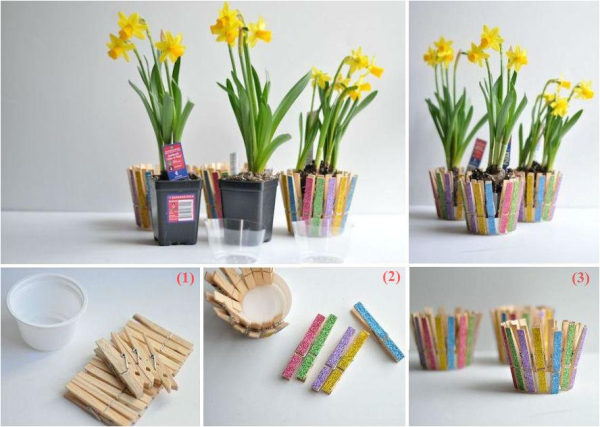 Make your desk beautiful with this handmade flowerpot..... Do you like it..???