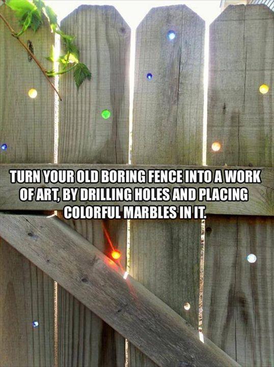 wooden fence idea!   #garden #fence
