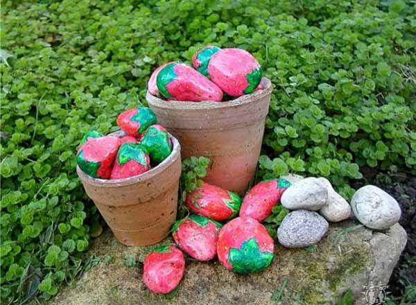 Rocks painting idea for decorate your #Garden