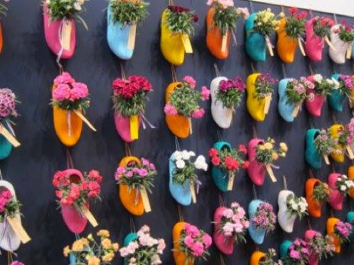Hanging shoes..!! Best #gardening idea for small space..!!
