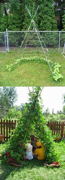 Greate hideaway for kids in your #garden  #gardening #gardeningtips