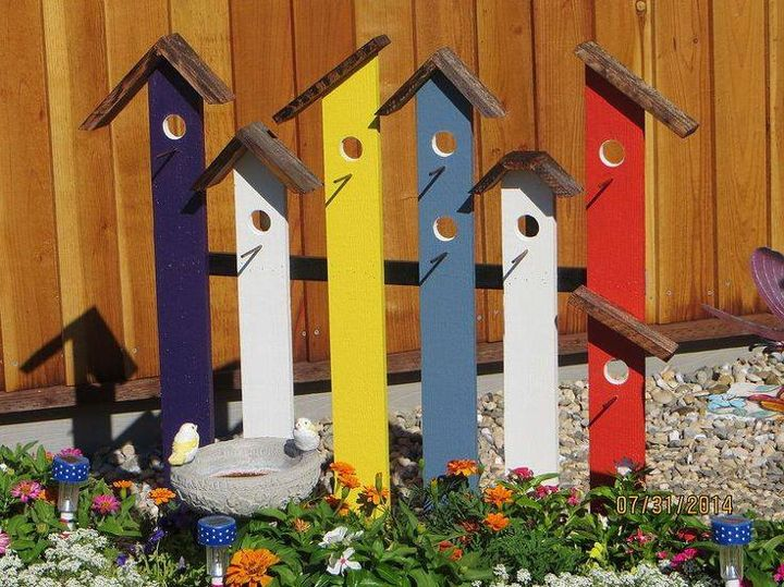 Colorful Birdhouse #Garden Trellis