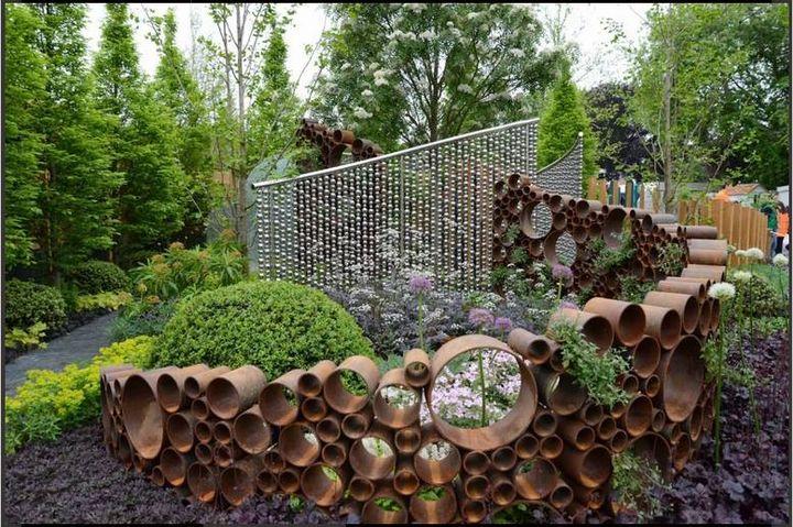 Such a beautiful #garden decoration idea..!!