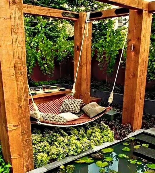 Wonderful relaxation idea for your backyard #garden