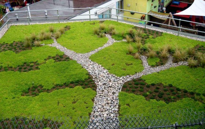 elegant green rooftop!!