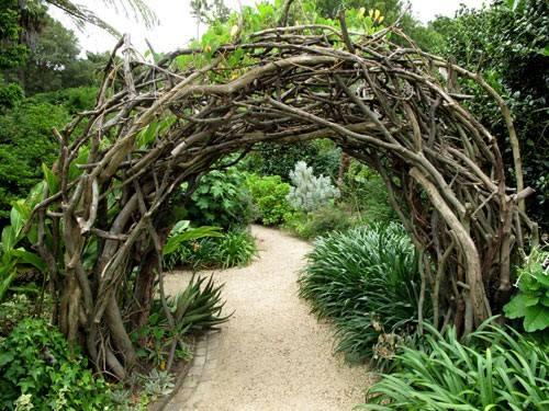 Rustic garden path ..