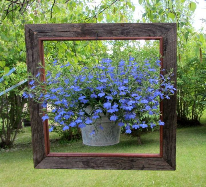 Its best #garden decoration idea...turn your old window frame into #planter