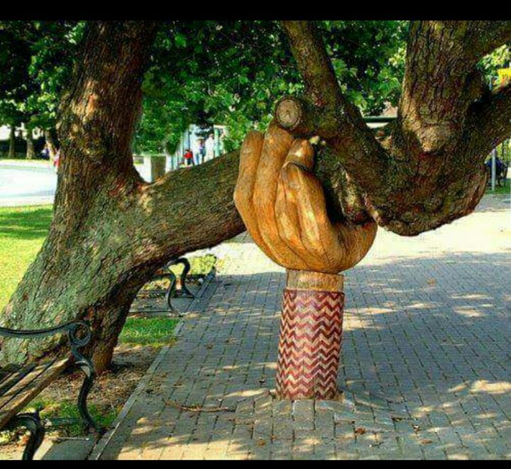 Fantastic outdoor garden #sculpture #gardening