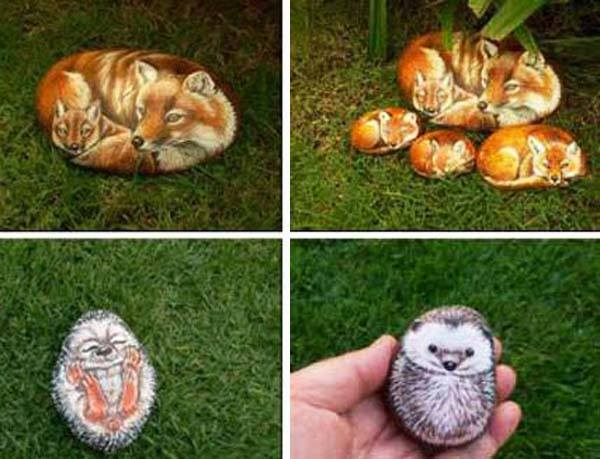 Painted Rocks for Artistic Yard and Garden Designs!!