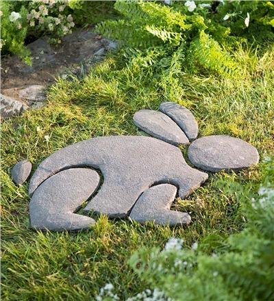 Decorative Stones Rabbit garden Sculpture.