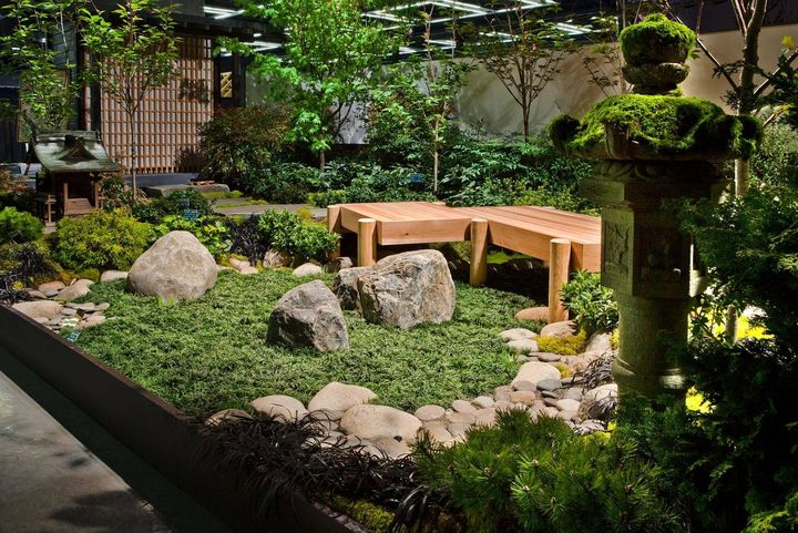 indoor japanese garden!  #indoorgarden