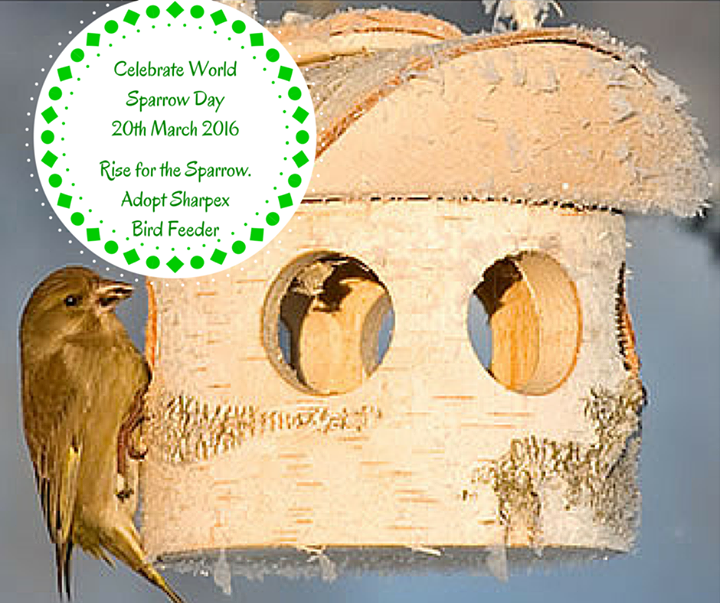 Celebrate World Sparrow Day 20th March 2016 with Sharpex Bird Feeder! http://www.sharpexindia.com/product/accessories/bird-feeder/
