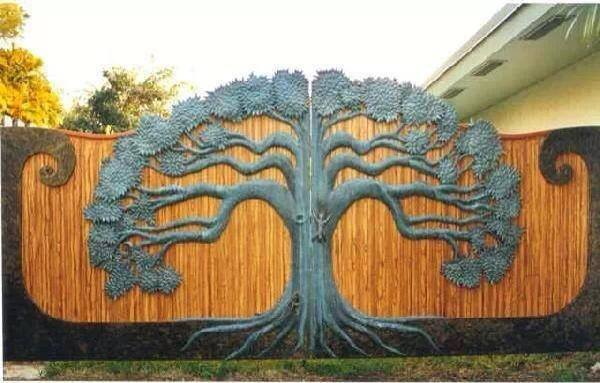 Amazing Tree Design #garden Gate.