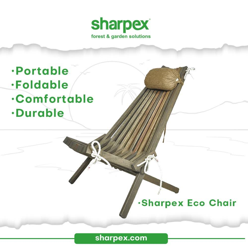 Being inspired by the palette and art-work of nature, the nature-friendly Eco Chair offers the perfect infusion of style and comfort. It is a premium collection that is portable because it can be easily folded. The thoughtfully crafted eco-chair is comfortable and durable too.  #EcoChair #GardeningAccessories #GardeningTools #ModernGardeningTools #GardeningProducts #GardenProducts #Sharpex #SharpexIndia