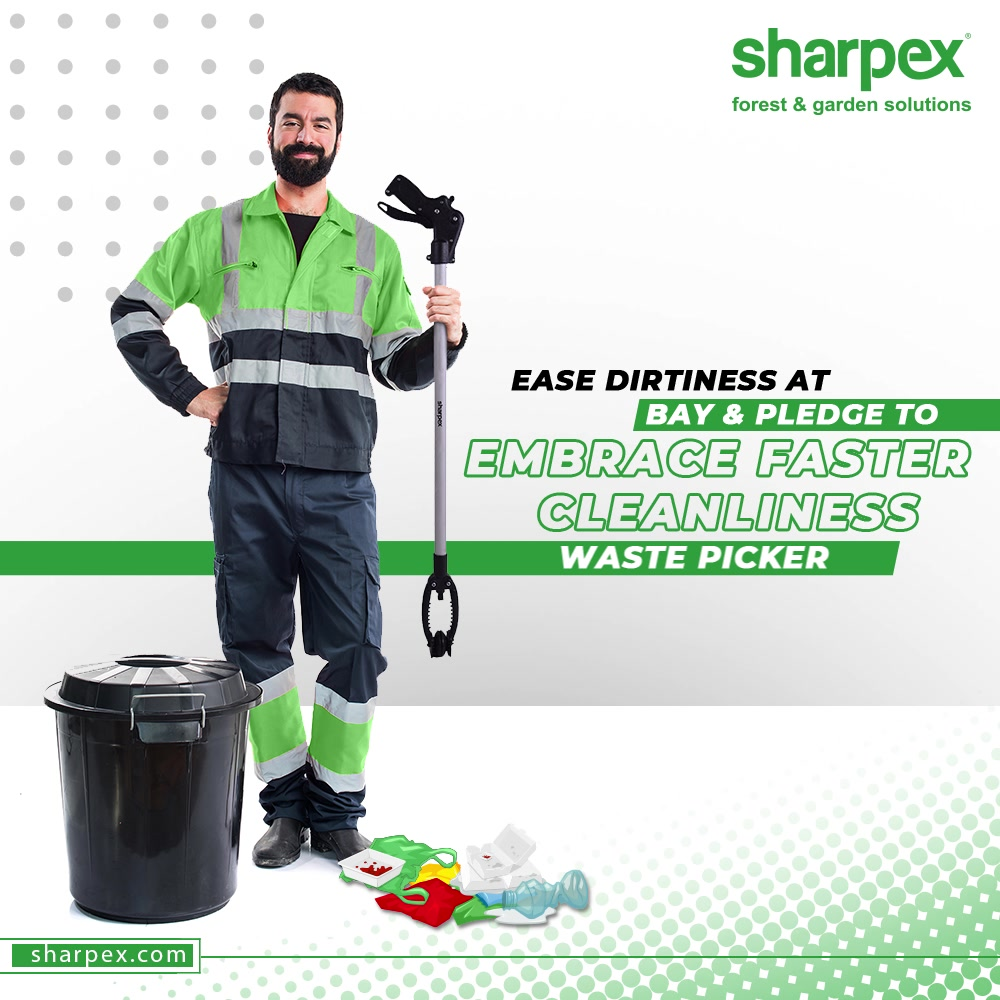 To nurture a garden is to feed not just the body, but the soul.  Keep dirtiness at bay and pledege to embrace cleanliess as a way of living.  #WastePicker #GardeningTools #ModernGardeningTools #GardeningProducts #GardenProduct #Sharpex #SharpexIndia