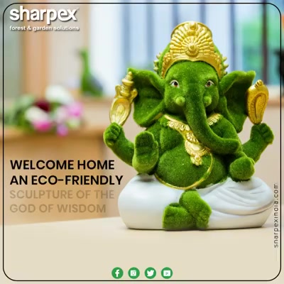 Be that devotee of God who is also an environmentalist! This Ganesha Chaturthi, welcome home an ecofriendly sculpture of the God of wisdom.  #GardeningTools #ModernGardeningTools #GardeningProducts #GardenProduct #Sharpex #sharpexindia
