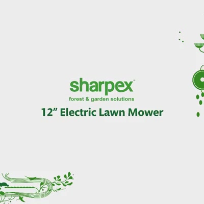 """Presenting the New & Economical 12"""" Electric Lawn Mower from Sharpex.  #wearethelawnmowerpeople"""