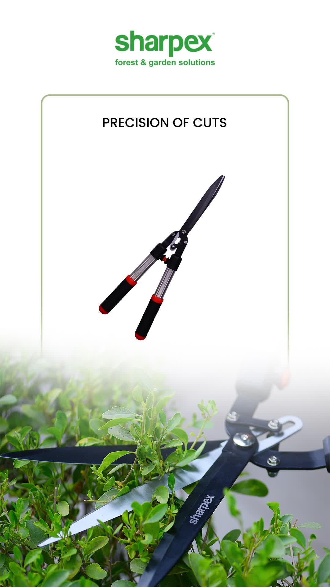 #Sharpex3BladeHedgeShear Is Ideal Tool Used For Trimming, Shaping Shrub, Decorative Plants. 3 Blade Hedge Shear feature precision blades each designed to make trimming shrubs easier. Get a clean and easy cut on everything from your tiniest twigs to your brute branches.  #GardeningAccessories #GardeningTools #ModernGardeningTools #GardeningProducts #GardenProducts #Sharpex #SharpexIndia #SharpexSecateurs