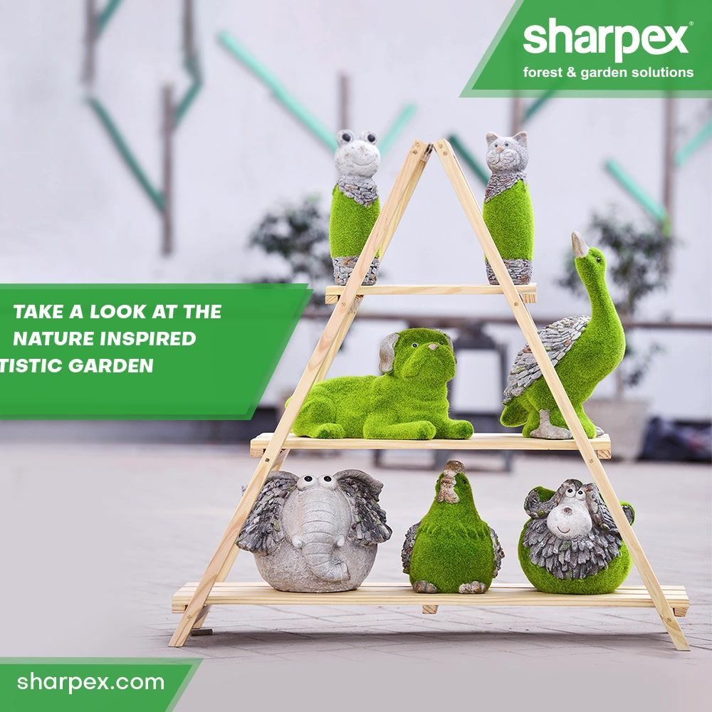 Take a look at the nature inspired artistic miniature garden sculptures from #Sharpex.   You can buy them to beautify your indoor and outdoor spaces or also purchase them for gifting purposes.  #HappyNewYear #BeAGardener #GardenLovers #GardeningAccessories #GardeningTools #ModernGardeningTools #GardeningProducts #GardenProduct #Sharpex #SharpexIndia