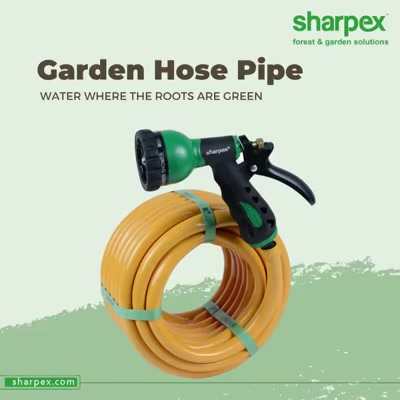 Water where the roots are green and bring the world to bloom and blossom.   Add this essential tool to your gardening accessory colletcion so that you can water the plants and lawn around without having to spend much of your energy.  #GardenHosePipe #HosePipe #ModernGardeningTools #GardeningProducts #GardenProduct #Sharpex #SharpexIndia